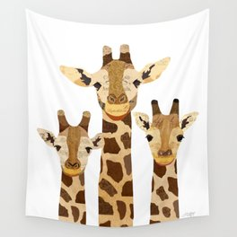 Giraffe Collage Wall Tapestry