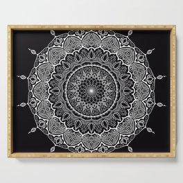 Mandala Black&White Serving Tray