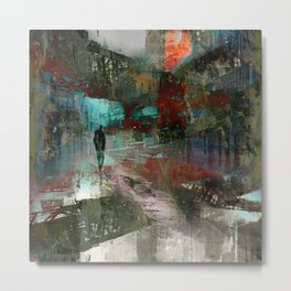 A city without you Metal Print