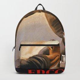 Ercolano Naples Italian art deco ad Backpack