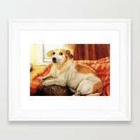 jack russell Framed Art Prints featuring Jack Russell by Good Artitude