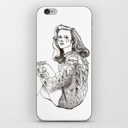 Girl in a Sweater, ink iPhone Skin
