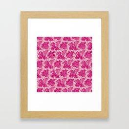 Pegasus Pattern Pink and Raspberry Framed Art Print