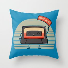 Cute Mix Tape Throw Pillow