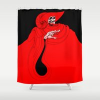 jojo Shower Curtains featuring The Red Death by JoJo Seames