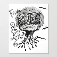 fear and loathing Canvas Prints featuring Fear & Loathing by Saravo Studio
