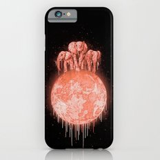 elephants on moon (variant) coral iPhone 6 Slim Case