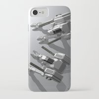 robots iPhone & iPod Cases featuring Robots by Carlo Toffolo
