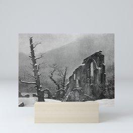 Caspar David Friedrich - Winter - Monk in the Snow - Der Winter - Mönch im Schnee Mini Art Print