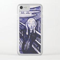 The Scream's Haze (dark blue) Clear iPhone Case