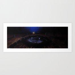 The last water on Mars Art Print