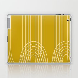 Curves and Line in Golden Mustard Yellow Laptop & iPad Skin
