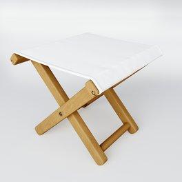 White Minimalist Solid Color Block Spring Summer Folding Stool