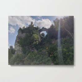 Arch Rock Mackinac Island Metal Print