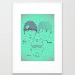 Breaking Bad - Faces - The Crew Framed Art Print