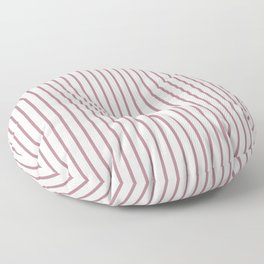 Princess Plum Pinstripe on White Floor Pillow