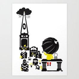 Howff ye bin? (or the meeting place) Art Print