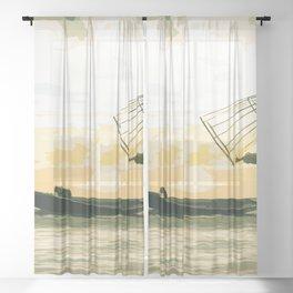 One Happy Fisherman Sheer Curtain