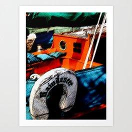 Painted Boat Art Print