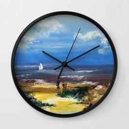 A marée basse Wall Clock