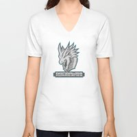 monster hunter V-neck T-shirts featuring Monster Hunter All Stars - The Dondruma Hurricanes by Bleached ink