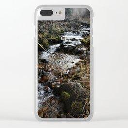 Wilderness Stream Clear iPhone Case