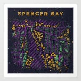 Spencer Bay • Shapes & Colors Art Print
