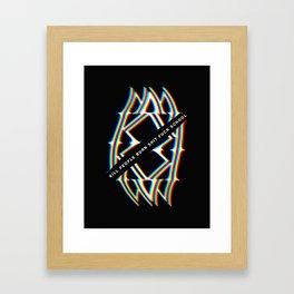 Kill Burn Fuck Framed Art Print