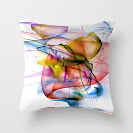 Structur World by Nico Bielow Throw Pillow