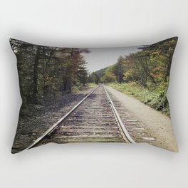 Down the tracks Rectangular Pillow