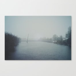 snow in wels (4) Canvas Print