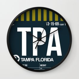 TPA Tampa Luggage Tag 2 Wall Clock
