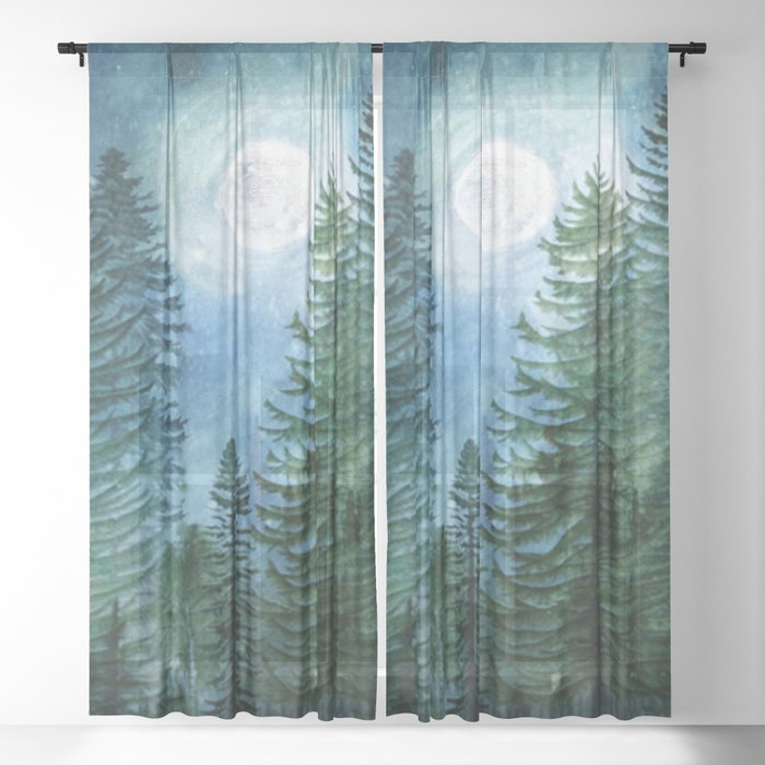Mountain Forest Sheer Curtain