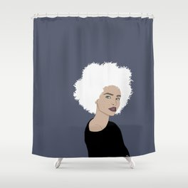 Curly Beauty Shower Curtain