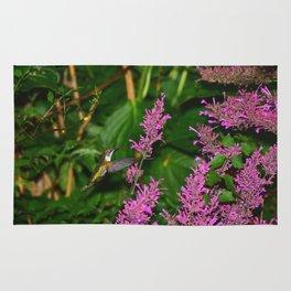 Hummingbird and agastache flower 60 Rug
