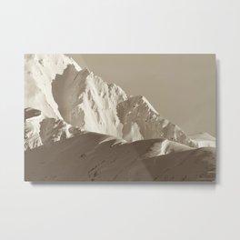 Alaskan Mts. - Mono I Metal Print