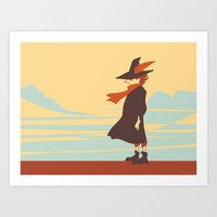 moomin Art Prints featuring Snufkin by Anneliese Mak