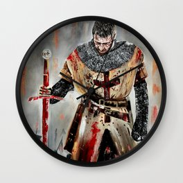 The Knights Templar Wall Clock