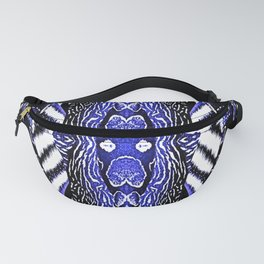 Abstract Wildlife Animal Pattern Study Royal Blue Fanny Pack