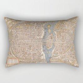 Vintage Paris Map Rectangular Pillow