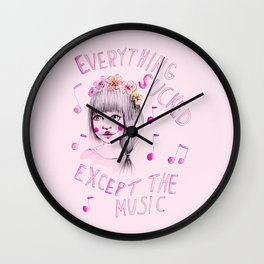 Everything sucked, except the music Wall Clock