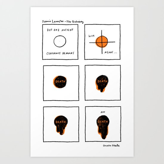 DENISE LEVETOV - THE CERTAINTY Art Print