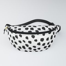 Hand drawn drops and dots on white - Mix & Match with Simplicty of life Fanny Pack