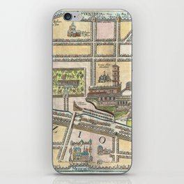 Vintage Map of Jerusalem an Solomon's Temple iPhone Skin