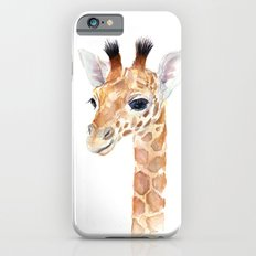 Baby Giraffe Cute Animal Watercolor Slim Case iPhone 6s