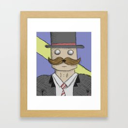 That moment when you become such a sir that your mustache has a mustache Framed Art Print