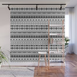 Aztec Black & White Wall Mural