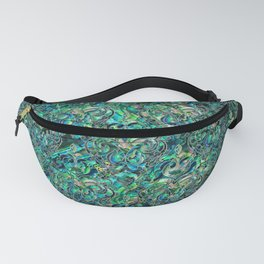 Persian Oriental pattern abalone and silver Fanny Pack