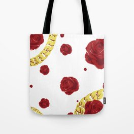 "Rose ""White"" Tote Bag"