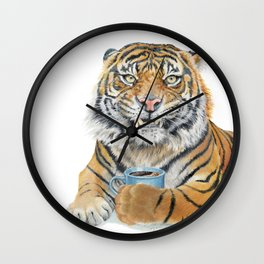 Too Early Tiger Wall Clock